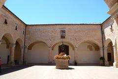 Cloister of the Basilica Sant Ubaldo Stock Image