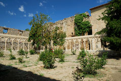 Cloister in the castle of Morella Royalty Free Stock Photography