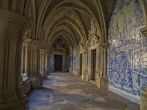 Cloister of cathedral royalty free stock photography