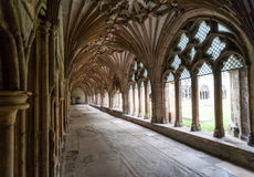 Cloister cathedral of Canterbury, Kent, England Royalty Free Stock Photography