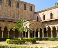 Cloister of the Cathedral of Monreale Royalty Free Stock Image