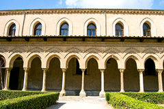 Cloister of the Cathedral of Monreale Stock Photography