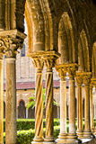 Cloister of the Cathedral of Monreale Royalty Free Stock Photo