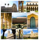 Cloister of the Cathedral of Monreale Royalty Free Stock Images