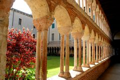 Cloister of the cathedral Royalty Free Stock Photos