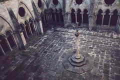 Cloister of the Cathedral of Porto. stock photos