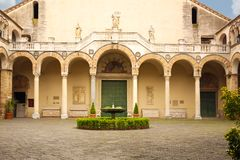 Cloister. Cathedral, Salerno. Italy royalty free stock images