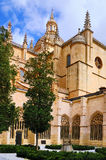 Cloister of Cathedral of Segovia, Spain royalty free stock images