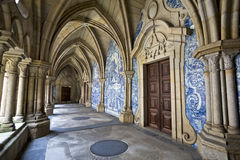 Cloister of the catherdal of Porto, Portugal. It is one of the city's oldest monuments and one of the most important Romanesque mo Royalty Free Stock Photography