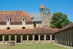 Cloister of The Chartreuse of Saint-Sauveur, France Stock Image