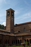 Cloister of Chiaravalle Abbey Royalty Free Stock Photography
