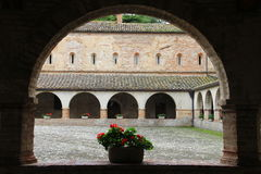 Cloister of Chiaravalle  Abbey, Fiastra, Italy Stock Photos