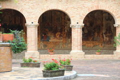 Cloister of Chiaravalle  Abbey, Fiastra, Italy Stock Photography