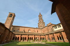 Cloister of chiaravalle abbey 2 Royalty Free Stock Images