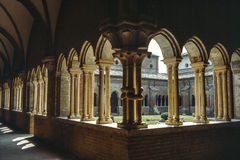 Cloister of Chiaravalle della Colomba Stock Photo
