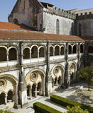 Cloister and church of the Alcobaça Monastery. Royalty Free Stock Photos