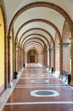 Cloister in Church of Sant' Anselmo all'Aventino, Rome Royalty Free Stock Image