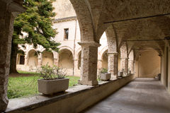 Cloister of church St. Francesco Royalty Free Stock Photo