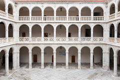 Cloister and colonnades of the University of Valladolid Stock Photo