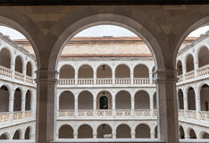 Cloister and colonnades of the University of Valladolid Stock Image