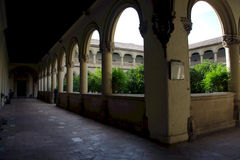 Cloister with columns 7 Royalty Free Stock Images