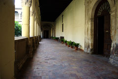 Cloister with columns 10 Royalty Free Stock Photo