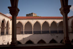 Cloister in the Convent Royalty Free Stock Photo