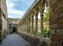 Cloister of the convent of San Francisco in  Morella Royalty Free Stock Image