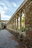 Cloister of the convent of San Francisco in  Morella Stock Image