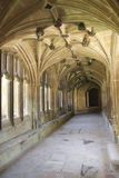 Cloister corridor. Cloister hallway at Lacock abbey in England.Parts of Harry Potter movies have been filmed here Stock Photography