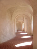 Cloister corridor and window light Stock Photography
