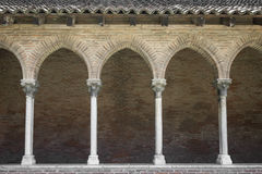 Cloister in Couvent des Jacobins Royalty Free Stock Photo