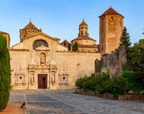 Cloister De Santa Maria De Poblet Royalty Free Stock Photos