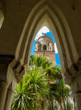 Cloister del Paradiso, Amalfi. The Cloister del Paradiso (Italian: Il Chiostro del Paradiso) with view on the bell tower in Amalfi, Italy Stock Photo