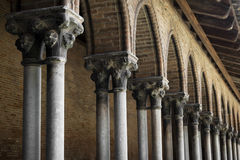 Cloister detail, Couvent des Jacobins Royalty Free Stock Photo