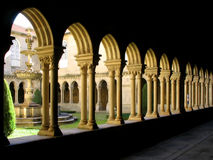 Cloister detail, Portugal Stock Photo