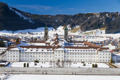 Cloister Einsiedeln in winter, Royalty Free Stock Image