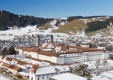 Cloister Einsiedeln in winter, Stock Image