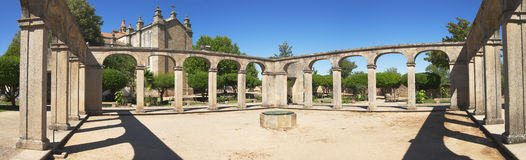 Cloister of episcopal palace Royalty Free Stock Photo