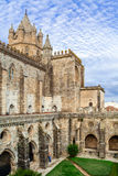 Cloister of the Evora Cathedral, the largest cathedral in Portugal. Stock Images