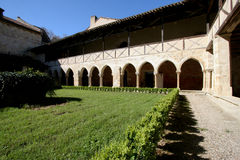 Cloister of Flaran Abbey. The cloister of Flaran Abbey , a Cistercian monastery of the twelfth century,in Gascony, France royalty free stock images