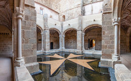 Cloister of the Flor da Rosa Monastery. Royalty Free Stock Photo