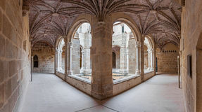 Cloister of the Flor da Rosa Monastery. Stock Photos