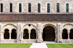 The Cloister at Fontenay. The 12th Century Cloister at Fontenay in Bourgogne, France Stock Images