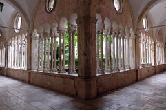 The cloister of the Franciscan monastery of the Friars Minor in Dubrovnik Royalty Free Stock Photo