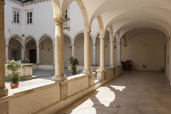 Cloister of the Franciscan monastery Stock Photo