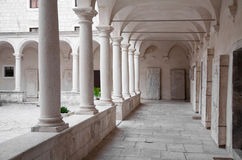 Cloister of the Franciscan monastery in Zadar Royalty Free Stock Photos