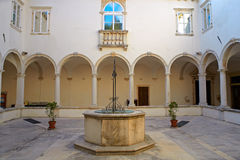 Cloister of the Friars Minor, Piran Stock Photos