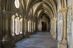 Cloister gallery Se Cathedral. Cloister gallery of Se Cathedral in Porto, Portugal Stock Photo