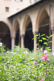 Cloister garden Stock Image